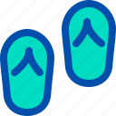 beach, flip, flops, foot, travel, walk icon