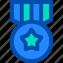 award, badge, medal, ribbon, star icon