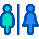 man, public, rest, room, toilet, woman icon
