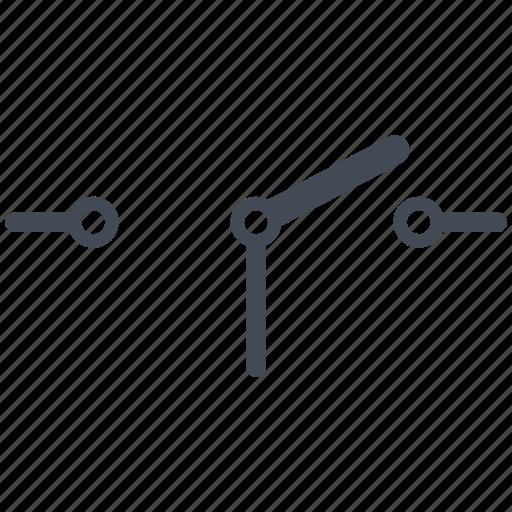 circuit, diagram, electric, electronic, sdpt, switch icon
