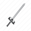 attack, blade, item, melee, slash, sword, weapon icon