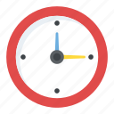 clock, clock symbol, current time, time update, twelve-fifteen icon