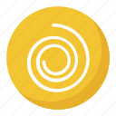 circle swirling, cyclone button, cyclone emoji, spiral shape, swirl emoji icon