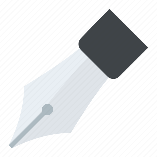 fountain pen, ink nib, ink pen, pen nib, writing pen icon