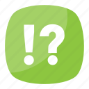 exclamation question mark, interabang, interrobang, nonstandard punctuation, typograhical symbol icon
