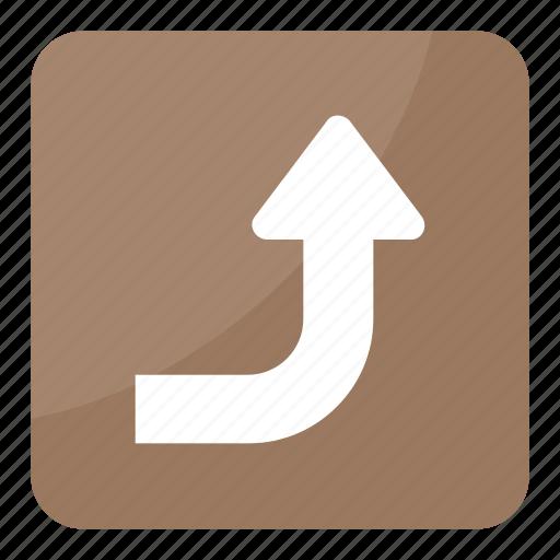 arrow direction, arrow hint, arrow indication, arrow symbol, right upward arrow icon