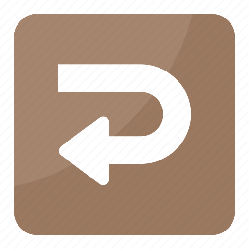 arrow, arrow indication, direction, left turn, u-turn icon