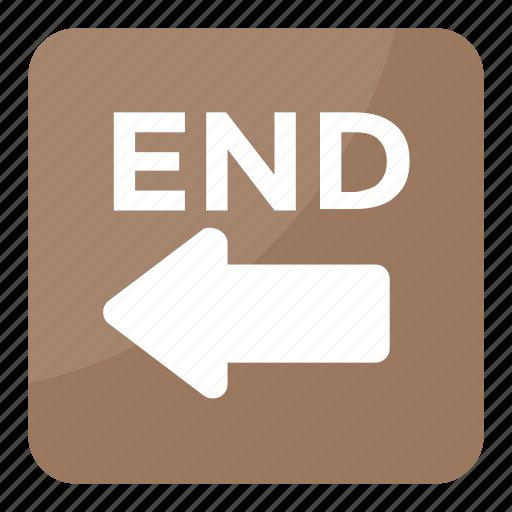 end arrow, end arrow emoji, end arrow symbol, end sign, leftward arrow icon