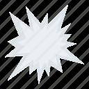 accident symbol, blast symbol, explosion, explosion bubble, explosive hazard icon