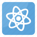 atom, atomic symbol, atomic whirl, nuclear symbol, rutherford model icon
