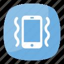 mobile on vibration mode, notification sound, phone with zig-zag lines, vibration mode, vibration mode emoji icon