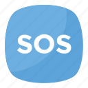 emergency, sos button, sos button emoji, squared sos emoji, web button icon