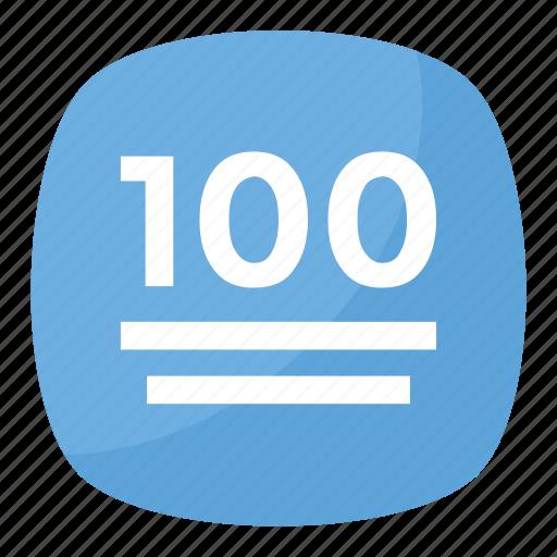 100 points symbol, hundred emoji, hundred points symbol ...