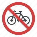 bicycle restriction, bicycle with red stroke, bikes are prohibited, no bicycle, no bike sign icon