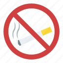 cigarette forbidden, no cigarette, no smoking, quit smoking, restricted smoking icon