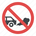 idling prohibited, no idling sign, road traffic sign, switch off engine sign, traffic instructions icon