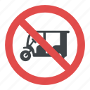 no rickshaw parking, prohibitory traffic sign, road sign, traffic sign icon