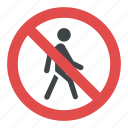 no pedestrians, road instructions, road safety symbol, road sign, traffic sign icon