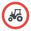 farm traffic, power-driven working vehicles, road instructions, tractor sign, traffic sign icon