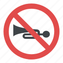 no honking, no horn, no horn road sign, prohibitory traffic sign icon