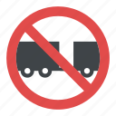 no trailers sign, no truck sign, road instructions, traffic sign, traffic symbol icon