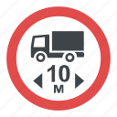 length limit sign, prohibitory sign, road sign, road sign in greece, traffic sign icon