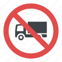 no lorries, road instructions, road safety symbol, road sign, traffic sign icon