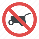 no hand cart sign, road instructions, road safety symbol, road sign, traffic sign icon