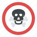 chemical hazard, skull with crossbones, toxic fumes, toxic warning sign, warning harmful fumes sign icon