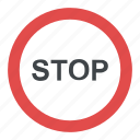 road traffic safety, stop sign, traffic circle, traffic sign, warning sign icon