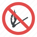 no campfire sign, no matchstick, no matchstick fire sign, no matchstick sign, no smoking sign icon