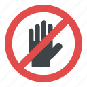 hand blocking sign stop, hand stop sign, hand stop symbol, no entry sign, safety sign icon