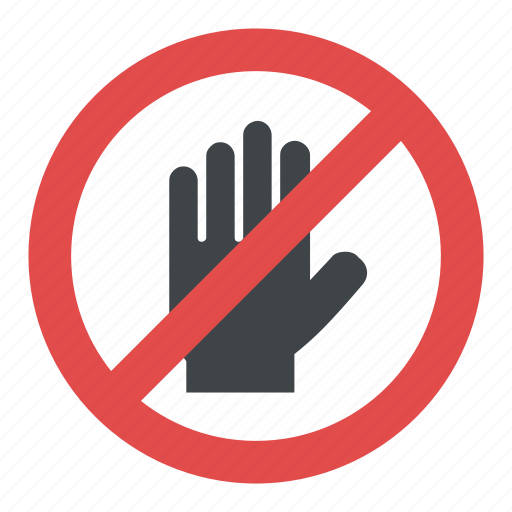 Hand Blocking Sign Stop Hand Stop Sign Hand Stop Symbol No Entry