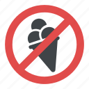 ice cream prohibited sign, no ice cream, no ice cream allowed sign, no ice cream symbol, warning sign icon