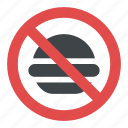 fast food danger label, fast food prohibited, no fast food allowed sign, no fast food sign, no junk food allowed sign icon