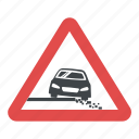 road sign, road warning signs, slippery road sign, traffic warnings, warning sign icon