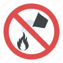danger alert, do not extinguish with water, do not fire extinguish sign, fire safety sign, warning sign icon