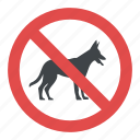 beware of dog, dogs not allowed sign, no pets allowed, prohibitory symbol, warning sign icon