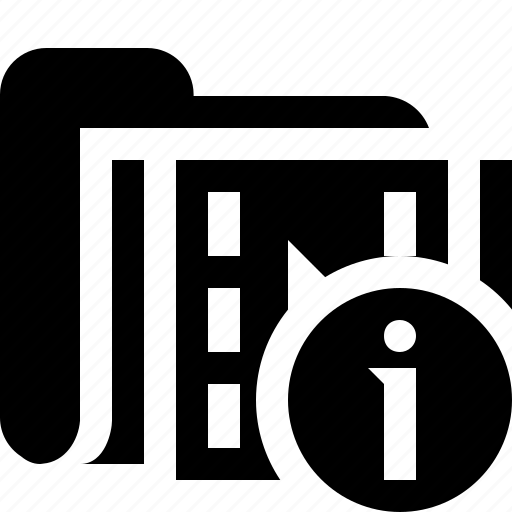 film, folder, information, media, movie, video icon
