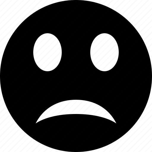 emoticon, emotion, face, smile, unhappy icon