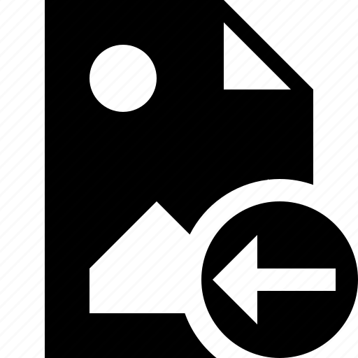 document, file, image, picture, previous icon