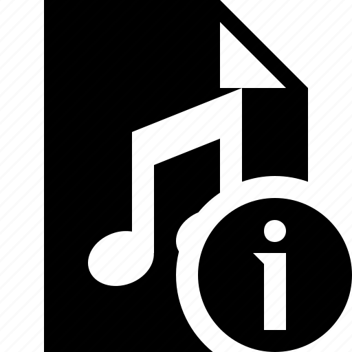 audio, document, file, information, music icon