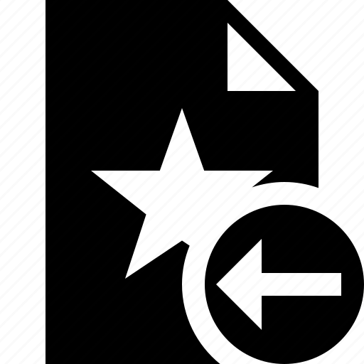 document, favorite, file, previous, star icon