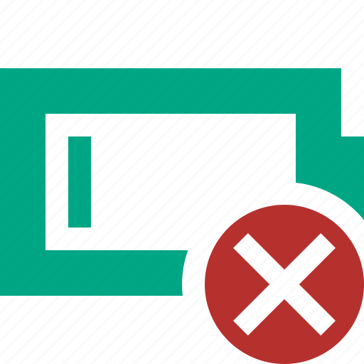 battery, cancel, charge, charging, empty, energy, power icon