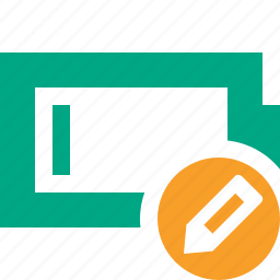 battery, charge, charging, edit, empty, energy, power icon