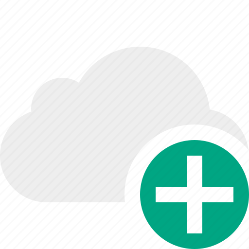 add, cloud, network, storage, weather icon