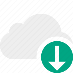 cloud, download, network, storage, weather icon