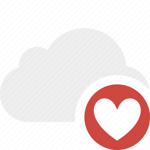 cloud, favorites, network, storage, weather icon