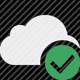 cloud, network, ok, storage, weather icon