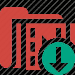 download, film, folder, media, movie, video icon